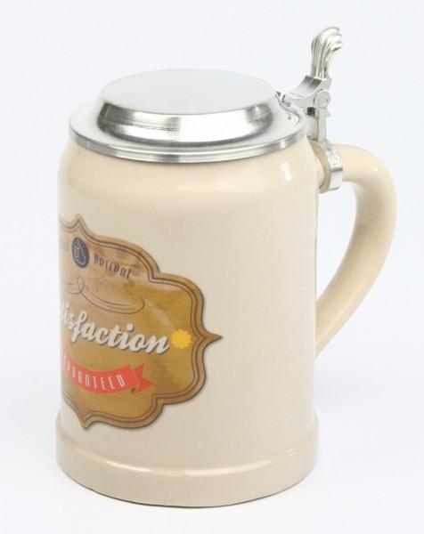 Vintage-Bierkrug-Satisfaction-guarateed-ZD-3