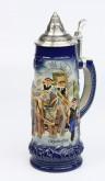 Brauereigespann 1,0l blau, Spitzdeckel