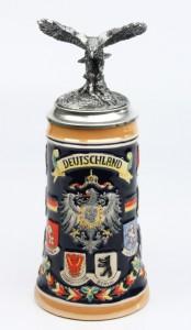 Deutschland bunt 0,5l, Deckelfigur Adler silber