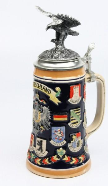 Deutschland bunt 0,5l, Deckelfigur Adler silber_2