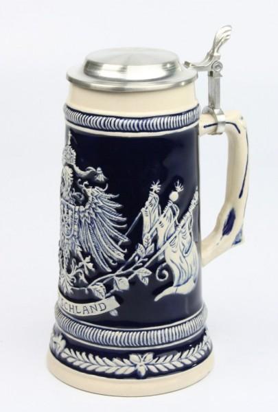 Deutschlandfahnen kobalt 0,5l, Flachdeckel