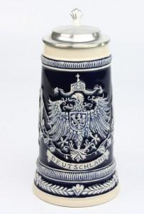 Deutschlandfahnen kobalt 0,5l, Flachdeckel_2
