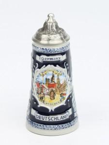 Deuschland Schild Mini kobalt, Spitzdeckel_2