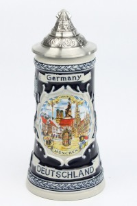 Deutschland Schild 0,25l kobalt, SB, Spitzdeckel_2