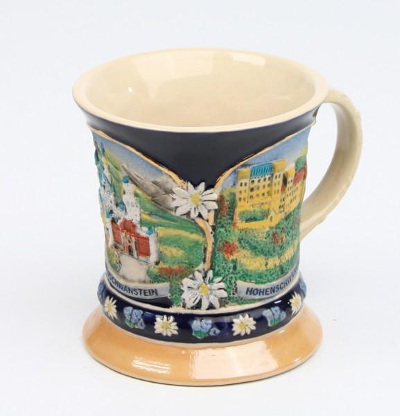 Kaffeehaferl Panorama Neuschwanstein neu bunt