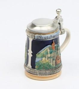 Neuschwanstein mini bunt, Flachdeckel