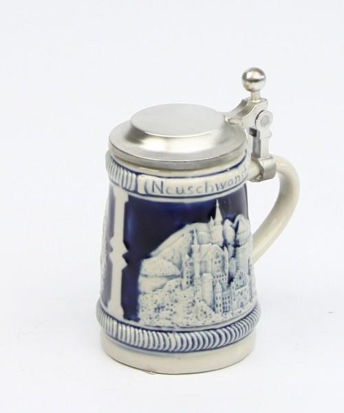 Neuschwanstein mini kobalt, Flachdeckel
