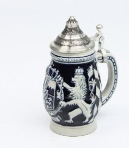 Souvenir Bayern mittel kobalt, Sitzddeckel