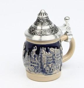 Souvenir München klein kobalt, Spitzdeckel