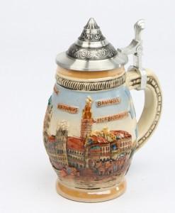 Souvenir München mittel bunt, Spitzdeckel