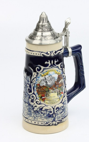Souvenir blau Mühle 0,5l, SB, Spitzdeckel