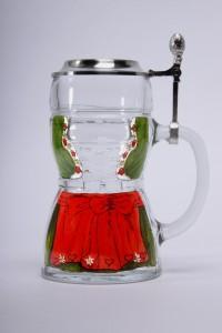 Dirndl Glas Zinndeckel