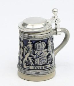 Bayernwappen HF kobalt Mini, Flacheckel