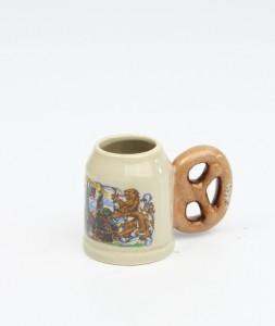 Brezelkrug Mini bunt, München neu