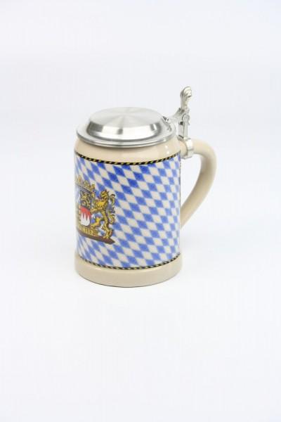 Kannenbäcker 0,5l, Bayernstrukturrauten, Flachdeckel