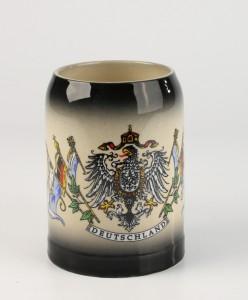 Kannenbäcker 0,5l schwarz gesprüht, Deutschlandfahnen_2