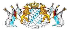 PA  Freistaat Bayern mit Fahnen