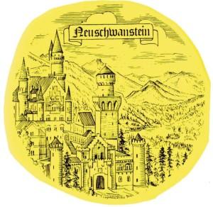 PA  Neuschwanstein  schwarz/weiss
