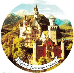 A Neuschwanstein  4-Farbsatz rund