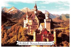 PA Neuschwanstein 4-Farbsatz eckig