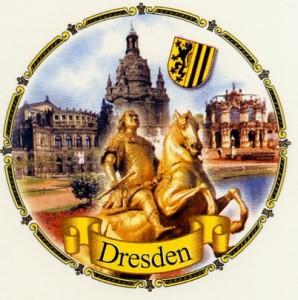 Dresden  3er-Motiv   Kordelrand
