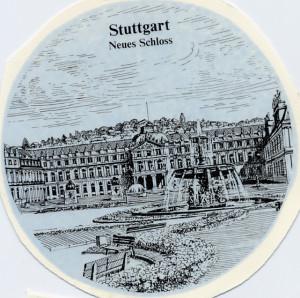 Stuttgart Neues Schloss  Stich