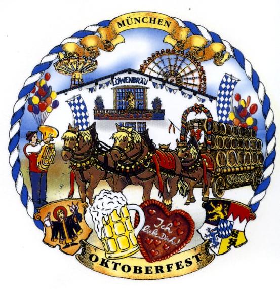 Oktoberfest rund Kordelrand
